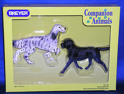Breyer~2004-06~Black Labrador & English Setter~Popular Dog Set~Companion Animal!