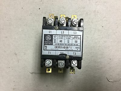 GE Definite Purpose Contactor 24 Volt Coil CR353AD3B*1