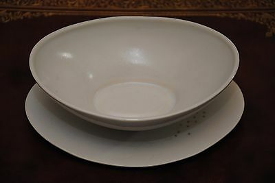 Russel Wright Saucer Boat Bowl With Lid Queen Annes Lace By Knowles