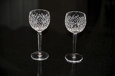 Set of 2 Waterford Alana Crystal Red Wine Hock Glasses