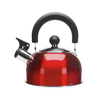 Kathmandu Stainless Steel 1.7L Whistling Camping Kettle Red