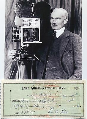 Lee De Forest Inventor ''Father of Radio'' Awarded 180 Patents Signed Check ....