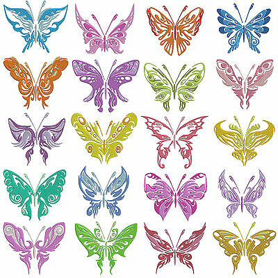 Shadow BUTTERFLIES * Machine Embroidery Patterns * 20 x 2 Sizes