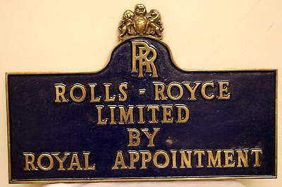 Rolls Royce Brass Plaque