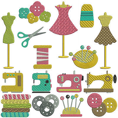 SEWING 1 * Machine Embroidery  Patterns * 16 designs