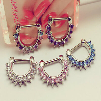 Surgical Steel Septum Clicker Daith Ear Cartilage Nose Ring Hoop