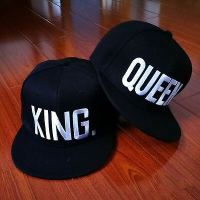 Adjustable Letter King And Queen Hat Baseball Cap Hats Hip Hop Lovers Snapback
