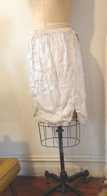 vintage antique Beautiful White Spangle  Skirt