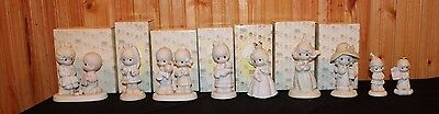 Lot 0f 9 Precious Moments Figurines Original Boxes NIB Retired Excellent