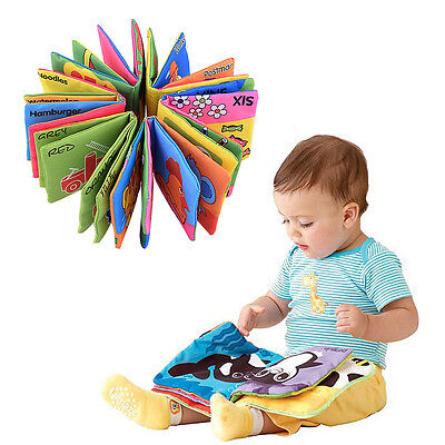 Infant Baby Child Intelligence Development Cloth Book Cognize Book Toy Gift