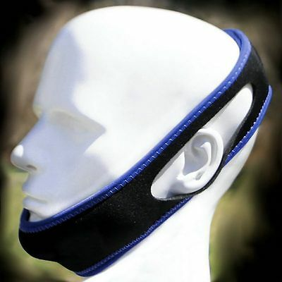 Men Black Anti Snore Chin Strap Care Sleep Stop Snoring Belt Chin Jaw Apnea Belt