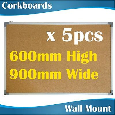 5PCS Corkboards Notice Board corkboard pin board pinboards cork board 60x90 CM
