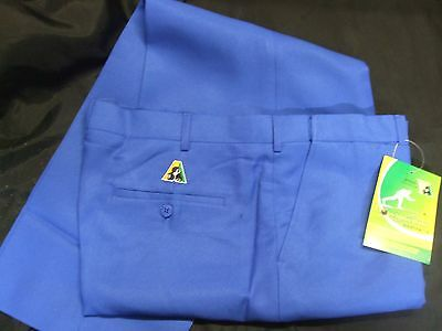 Bowlswear Australia Mens Tailored Pants Size 112, Light Royal in color