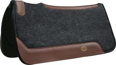 """Showman 32""""x32"""" Felt Western Saddle Pad With Wear Leathers! NEW HORSE TACK!!"""