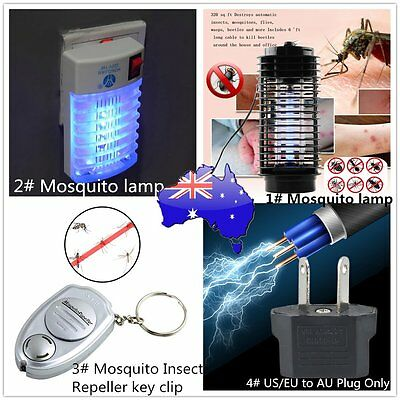 110V/220V Electric Mosquito Fly Bug Insect Zapper Killer With Trap Lamp Black SI