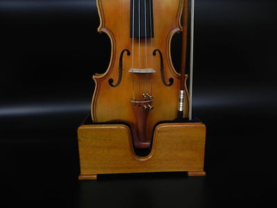 3/4 - 4/4 Violin Stand - Excellent Wood Quality - Handcrafted - Velvet Interior