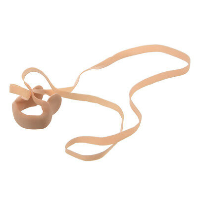 Beige Elastic Rubber String Nose Clip Protector for Swimming LW
