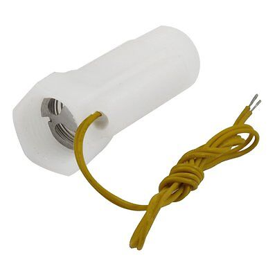 White Plastic Shell Magnetic Water Flow Switch w Inner Outer Thread LW