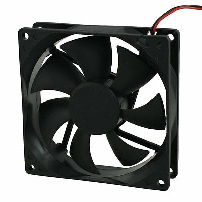 DC 12V 4 Pin Black Plastic PC Cooling Fan 90mm x 90mm x 25mm LW