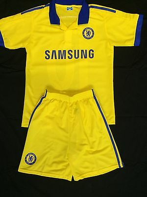 Chelsea Away Kids 2-Piece Yellow Soccer Set 2014/15