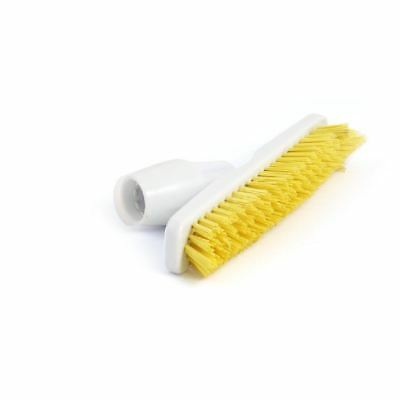 Jantex Brush Head Grout with Handle Adaptor - Yellow - Angled Head - 235 mm