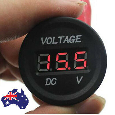 12V-24V Car Motorcycle LED DC Digital Display Voltmeter Waterproof Meter #T