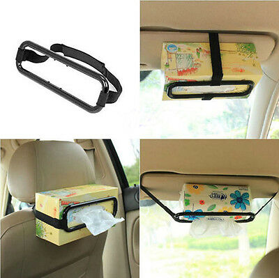 Car Tissue Box Holder Automobile Seat Back Accessories Sun Hanging Clip Bracket