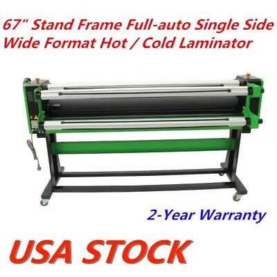"""US - 67"""" Full-auto Single Side Wide Format Hot / Cold Laminator Stand Frame"""