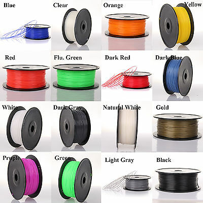 3D Printer Filament PLA, 1.75mm, 16 Colours, 10m - 1kg For RepRap, Makerbot Hot