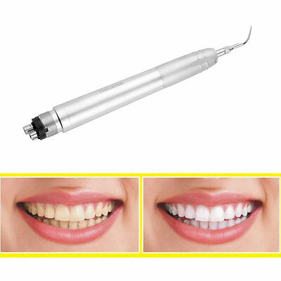 Dental Ultrasonic Air Perio Scaler Handpiece Hygienist 4-Holes with 3 Tips #E