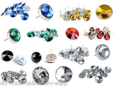 Diamond Diamante Crystal Upholstery buttons nails Headboards sofas chairs stools