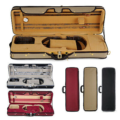 Violin Case - Muzip Full Size 4/4 Luxury Velvet Silk Interior Red Black or Green