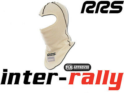 RRS balaclava open face FIA WHITE Nomex fire rally race