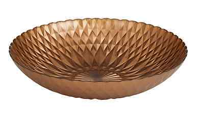 New Colour Glass Bohemia Bowl 7x33cm Copper Colour Gold