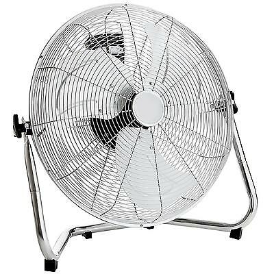 """NEW! 20"""" Chrome High Velocity Industrial 3 Speed Free Standing Large Gym Fan"""