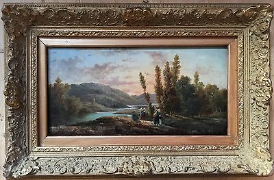 Anton Schoth(German 1859-1906) oil painting on panel signed Gilt Frame