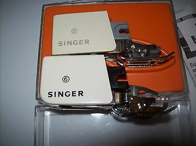 Lot 2 Singer Smooth Even Feed Sewing Machine Foot 5&6 Attach C-400 Plaid Matcher