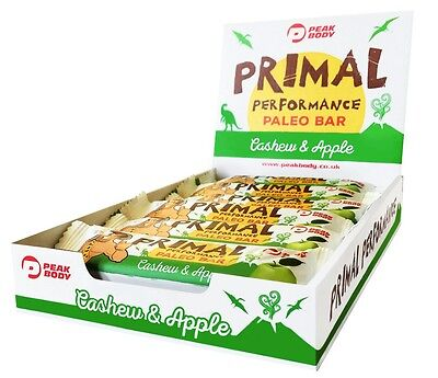 Primal Paleo Bars - Cashew and Apple (12 Bars)