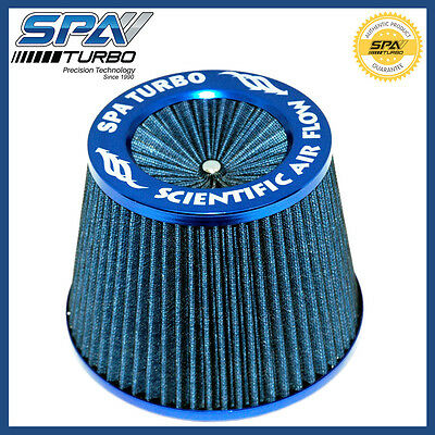 "SPA Turbo 3"" Universal air filter Blue Scientific air flow #FTIAR06"
