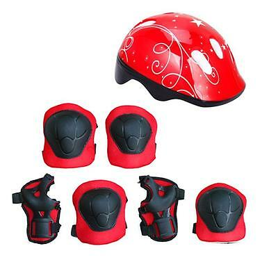 7PC Kid skating Protective Gear Safety Helmet Children Knee Elbow Pads Set Gifts