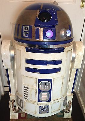 STAR WARS Vintage Life Size R2-D2 Electronic Remote Speaking Movie Prop FABULOUS