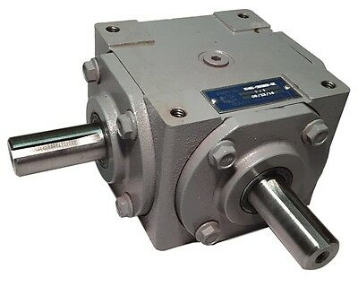 40 HP Right Angle Bevel Gearbox with 2 Keyed Shafts CW/CCW 1:1