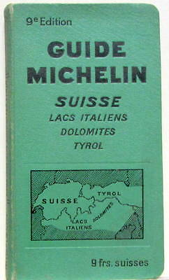 1931- 1932  Guide Michelin Suisse Lacs Italiens Dolomites Tyrol  Edition 9