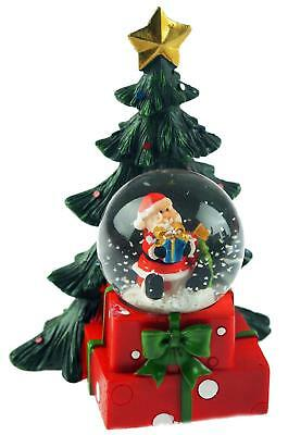 LED Light Up Santa / Christmas Tree Snow Globe Water Ball