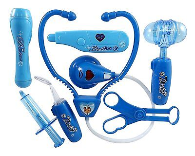 Doctor Nurse Blue Medical Kit Playset for Kids - Pretend Play Tools Toy Set