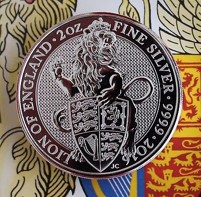 *NEW* 2016 - Queen's Beasts 'Lion of England' 2 oz. Silver Bullion coin