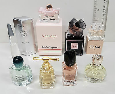 Armani, Juicy Couture, Lancome, Versace, Issey and Ferragamo Mini fragrances