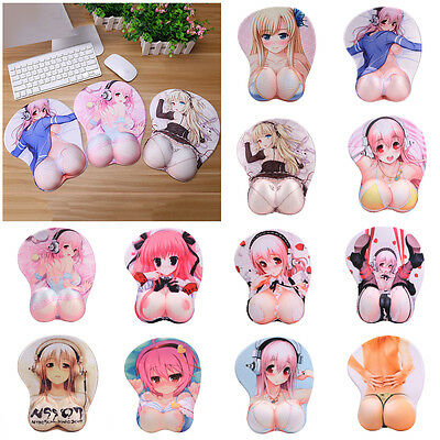 3D Cosplay Sexy Girl Wrist Rest Mouse Pad Soft Silicon Wrist Support Mouse Mat