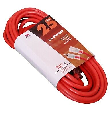 15-Foot 10 Gauge Extension Cord UL Lit End 3 Wire 10/3 Contractor Ft Feet