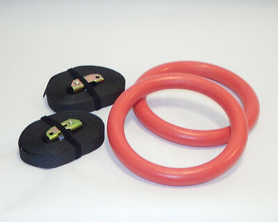 Gymnastic rings high quality 3 colors plastic ABS workout strenght training